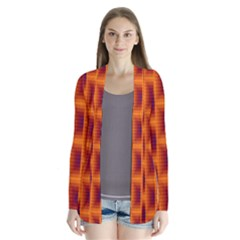 Fractal Multicolored Background Cardigans