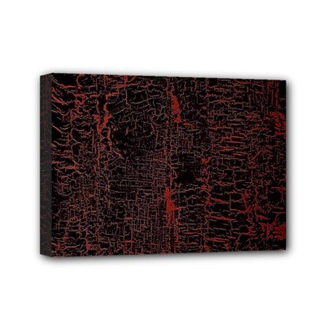 Black And Red Background Mini Canvas 7  X 5