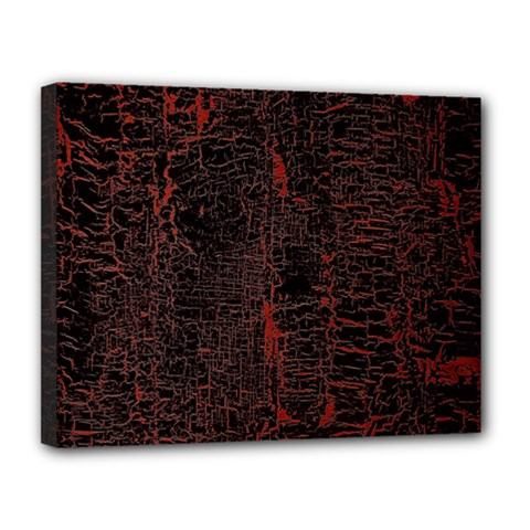 Black And Red Background Canvas 14  X 11