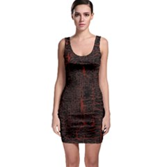 Black And Red Background Sleeveless Bodycon Dress