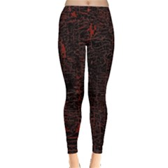 Black And Red Background Leggings