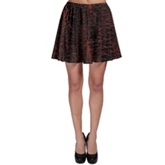 Black And Red Background Skater Skirt