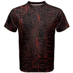 Black And Red Background Men s Cotton Tee