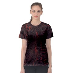 Black And Red Background Women s Sport Mesh Tee