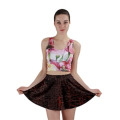 Black And Red Background Mini Skirt