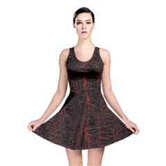 Black And Red Background Reversible Skater Dress