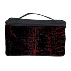 Black And Red Background Cosmetic Storage Case