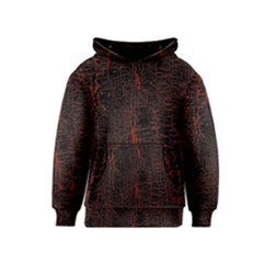 Black And Red Background Kids  Pullover Hoodie