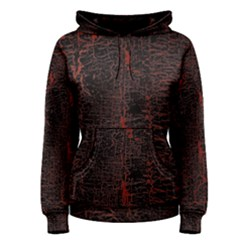 Black And Red Background Women s Pullover Hoodie