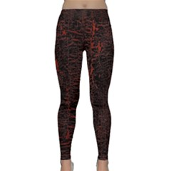 Black And Red Background Classic Yoga Leggings