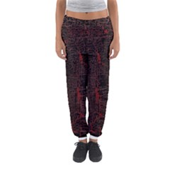 Black And Red Background Women s Jogger Sweatpants