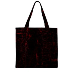 Black And Red Background Zipper Grocery Tote Bag