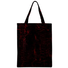 Black And Red Background Zipper Classic Tote Bag