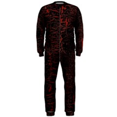 Black And Red Background Onepiece Jumpsuit (men)