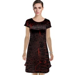 Black And Red Background Cap Sleeve Nightdress