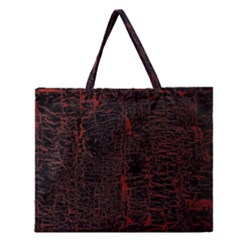 Black And Red Background Zipper Large Tote Bag