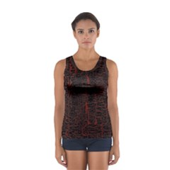 Black And Red Background Women s Sport Tank Top