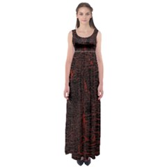 Black And Red Background Empire Waist Maxi Dress