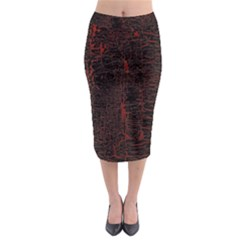 Black And Red Background Midi Pencil Skirt