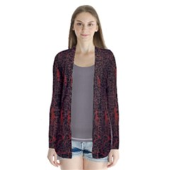 Black And Red Background Cardigans