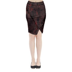 Black And Red Background Midi Wrap Pencil Skirt