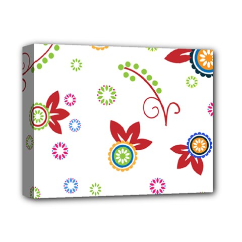 Colorful Floral Wallpaper Background Pattern Deluxe Canvas 14  X 11