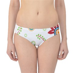 Colorful Floral Wallpaper Background Pattern Hipster Bikini Bottoms