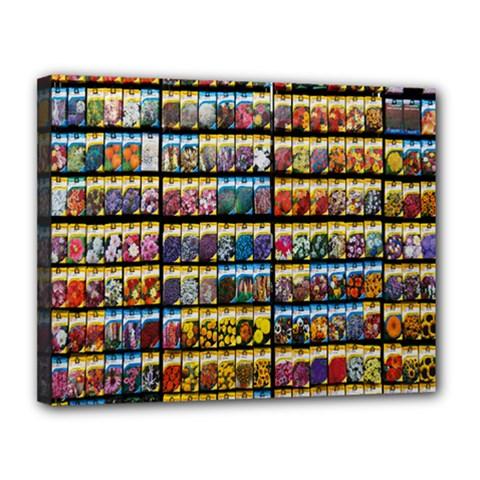 Flower Seeds For Sale At Garden Center Pattern Canvas 14  X 11