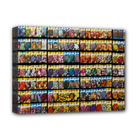Flower Seeds For Sale At Garden Center Pattern Deluxe Canvas 16  X 12