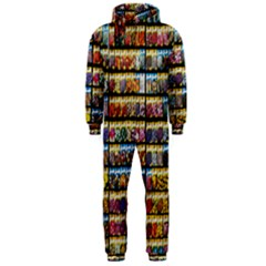Flower Seeds For Sale At Garden Center Pattern Hooded Jumpsuit (Men)