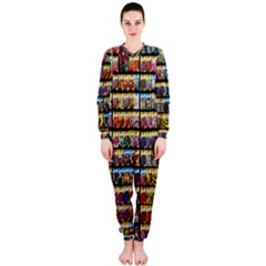 Flower Seeds For Sale At Garden Center Pattern Onepiece Jumpsuit (ladies)