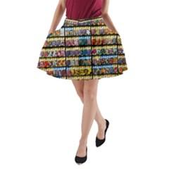 Flower Seeds For Sale At Garden Center Pattern A Line Pocket Skirt