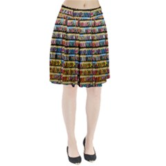Flower Seeds For Sale At Garden Center Pattern Pleated Skirt