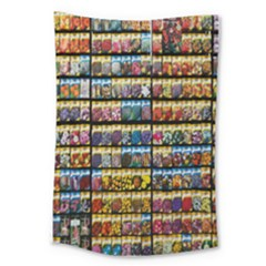 Flower Seeds For Sale At Garden Center Pattern Large Tapestry