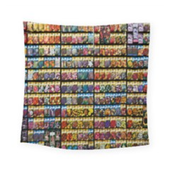 Flower Seeds For Sale At Garden Center Pattern Square Tapestry (small)