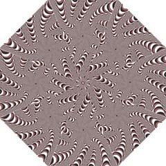 Digital Fractal Pattern Golf Umbrellas