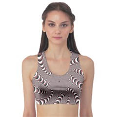 Digital Fractal Pattern Sports Bra