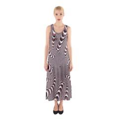 Digital Fractal Pattern Sleeveless Maxi Dress