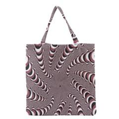 Digital Fractal Pattern Grocery Tote Bag