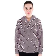 Digital Fractal Pattern Women s Zipper Hoodie