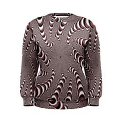 Digital Fractal Pattern Women s Sweatshirt