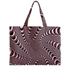 Digital Fractal Pattern Zipper Mini Tote Bag
