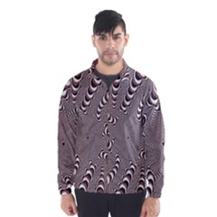 Digital Fractal Pattern Wind Breaker (men)