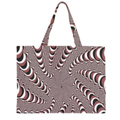 Digital Fractal Pattern Large Tote Bag