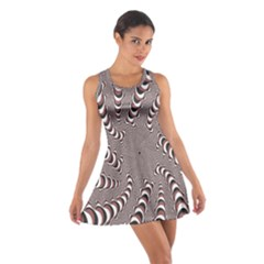 Digital Fractal Pattern Cotton Racerback Dress