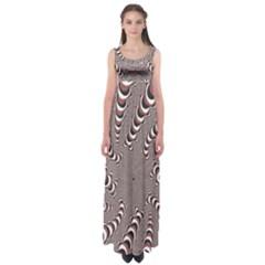 Digital Fractal Pattern Empire Waist Maxi Dress