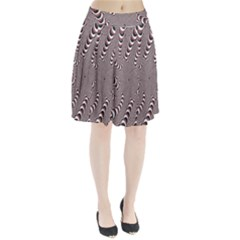 Digital Fractal Pattern Pleated Skirt