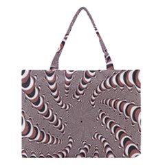 Digital Fractal Pattern Medium Tote Bag