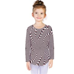 Digital Fractal Pattern Kids  Long Sleeve Tee