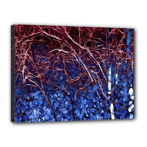 Autumn Fractal Forest Background Canvas 16  x 12